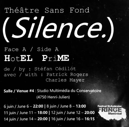 Silence - HotEL PriME - Affiche